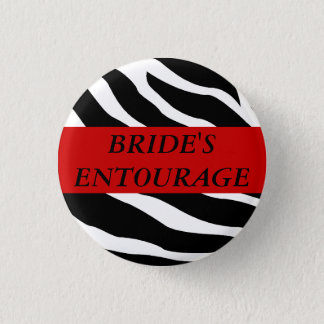 Bóton Redondo 2.54cm Botão do casamento da zebra do séquito das noivas