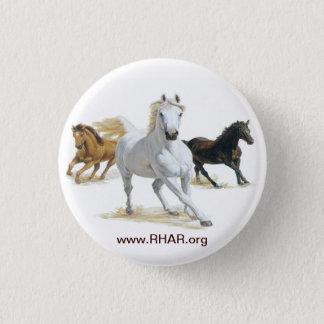 Bóton Redondo 2.54cm Botão do cavalo
