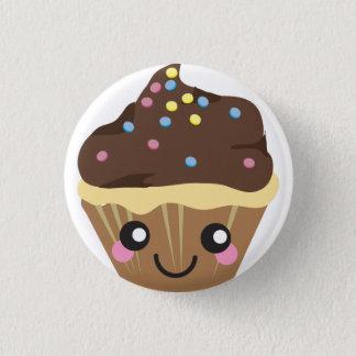 Bóton Redondo 2.54cm Botão do cupcake de Kawaii