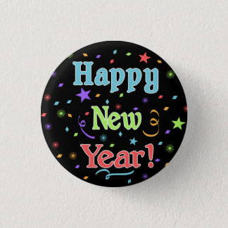 Bóton Redondo 2.54cm Botão do feliz ano novo