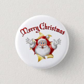 Bóton Redondo 2.54cm Botão do Feliz Natal