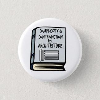 Bóton Redondo 2.54cm Botão do livro da complexidade & da contradição de