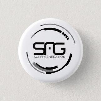 Bóton Redondo 2.54cm Botão do logotipo da geração de Sci Fi (pequeno)