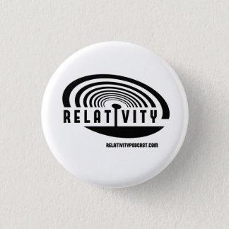 Bóton Redondo 2.54cm Botão do logotipo da RELATIVIDADE