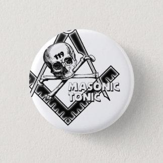 Bóton Redondo 2.54cm botão do maçónico-tónico-com-crânio