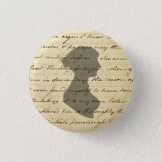 Bóton Redondo 2.54cm Botão do manuscrito de Jane Austen