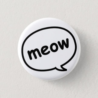 Bóton Redondo 2.54cm Botão do Meow