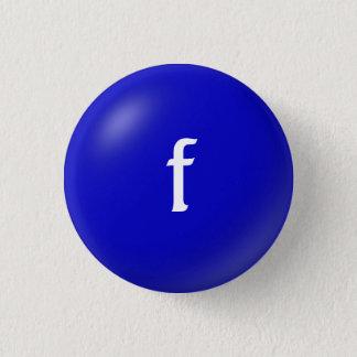 Bóton Redondo 2.54cm Botão do monograma de F