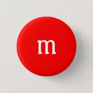 Bóton Redondo 2.54cm Botão do monograma de M
