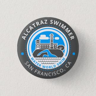 Bóton Redondo 2.54cm Botão do nadador de Alcatraz