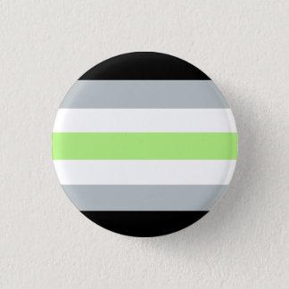 Bóton Redondo 2.54cm Botão do orgulho de Agender