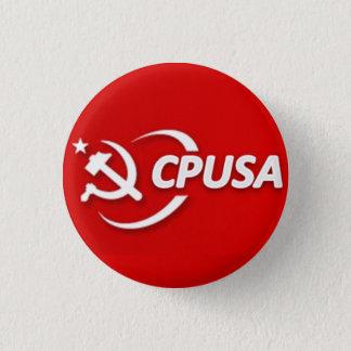 Bóton Redondo 2.54cm Botão do partido comunista (CPUSA)