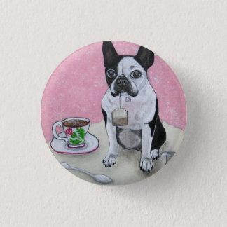 Bóton Redondo 2.54cm Botão do partido do tempo do chá do cão de Boston