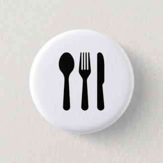 """Bóton Redondo 2.54cm Botão do pictograma da """"cutelaria"""""""