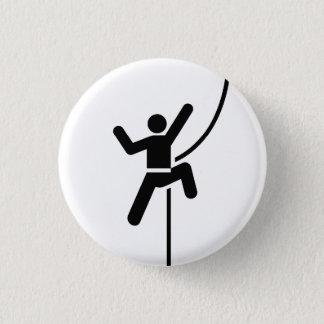 """Bóton Redondo 2.54cm Botão do pictograma da """"escalada"""""""