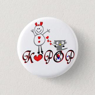 Bóton Redondo 2.54cm Botão do Pin da arte do vetor do fã de KPOP No.1