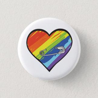 Bóton Redondo 2.54cm botão do pino de segurança do coração do arco-íris