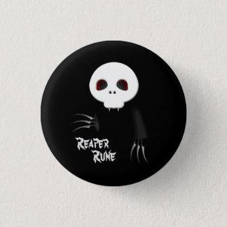 Bóton Redondo 2.54cm Botão do preto do Rune da ceifeira