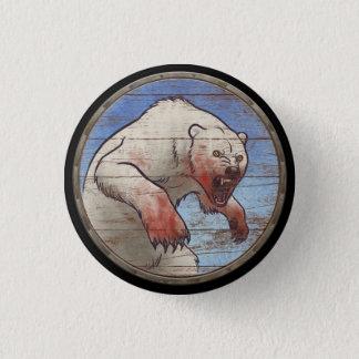 Bóton Redondo 2.54cm Botão do protetor de Viking - urso polar