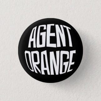 Bóton Redondo 2.54cm Botão do punk do logotipo de Agent Orange