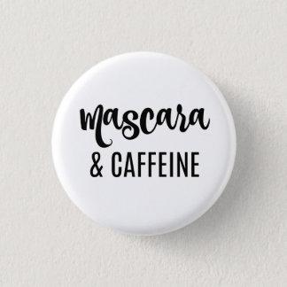 Bóton Redondo 2.54cm Botão do rímel & da cafeína