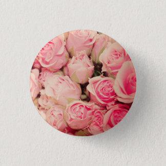 Bóton Redondo 2.54cm Botão do rosa do rosa
