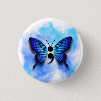 Bóton Redondo 2.54cm Botão do semicolon da borboleta