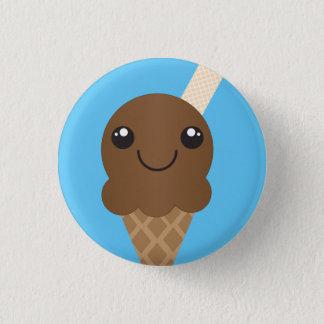 Bóton Redondo 2.54cm Botão do sorvete do chocolate
