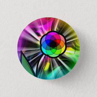 Bóton Redondo 2.54cm Botão do starburst da margarida do arco-íris