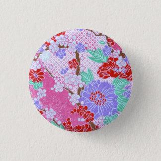 Bóton Redondo 2.54cm Botão do teste padrão de Sakura do japonês