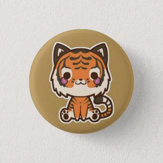 Bóton Redondo 2.54cm Botão do tigre