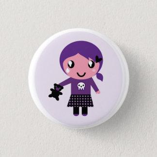 Bóton Redondo 2.54cm Botão dos desenhistas com menina de Emo