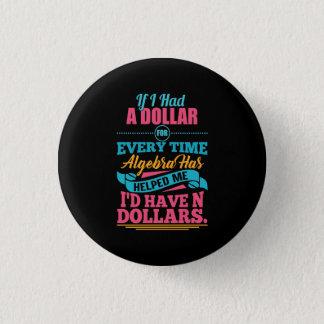 Bóton Redondo 2.54cm Botão dos dólares da chalaça N da equação da