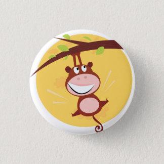 Bóton Redondo 2.54cm BOTÃO dos MIÚDOS com macaco marrom