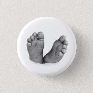 Bóton Redondo 2.54cm Botão dos pés do bebê