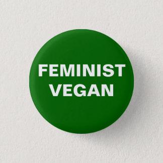 Bóton Redondo 2.54cm Botão feminista do Vegan