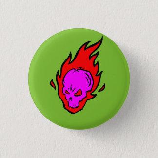 Bóton Redondo 2.54cm Botão flamejante do crânio do Hothead
