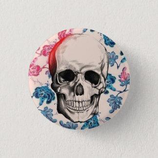 Bóton Redondo 2.54cm Botão floral do crânio