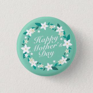 Bóton Redondo 2.54cm Botão floral do Pin da grinalda | do dia das mães