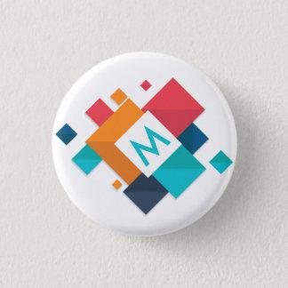 Bóton Redondo 2.54cm Botão geométrico abstrato colorido do Pin do