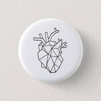 Bóton Redondo 2.54cm Botão geométrico do coração