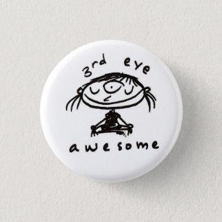 Bóton Redondo 2.54cm botão impressionante do terceiro olho