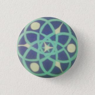 Bóton Redondo 2.54cm Botão impresso geométrico do tecido