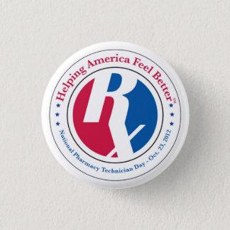 Bóton Redondo 2.54cm Botão nacional do dia 2012 do técnico da farmácia