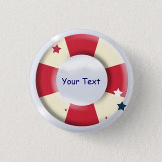 Bóton Redondo 2.54cm Botão náutico do costume do design do Lifesaver