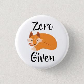 Bóton Redondo 2.54cm Botão o mais fresco dado Fox zero da atitude