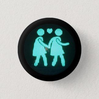 Bóton Redondo 2.54cm Botão pedestre lésbica do sinal