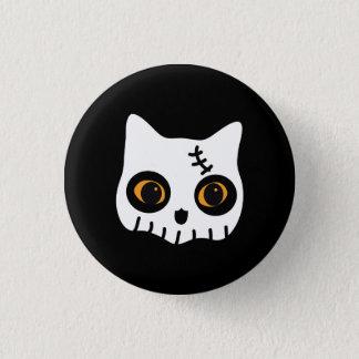 Bóton Redondo 2.54cm botão pequeno do gato do zombi