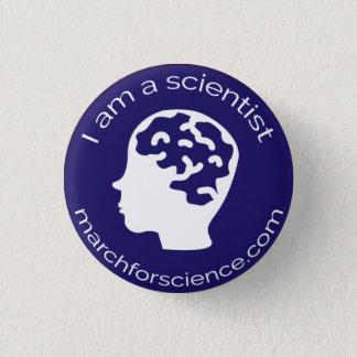 Bóton Redondo 2.54cm Botão pequeno - neurociência