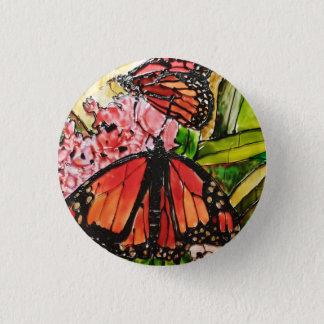 Bóton Redondo 2.54cm Botão pintado vidro da borboleta